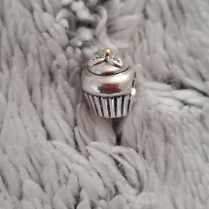 Pandora cupcake with 14k gold top charm